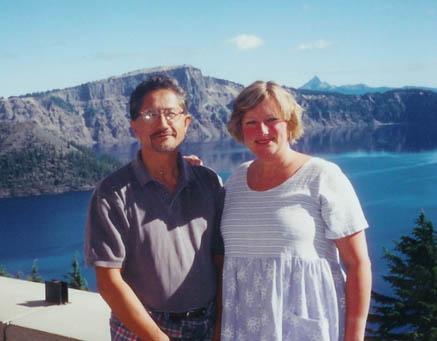 Frank and I at Crater Lake